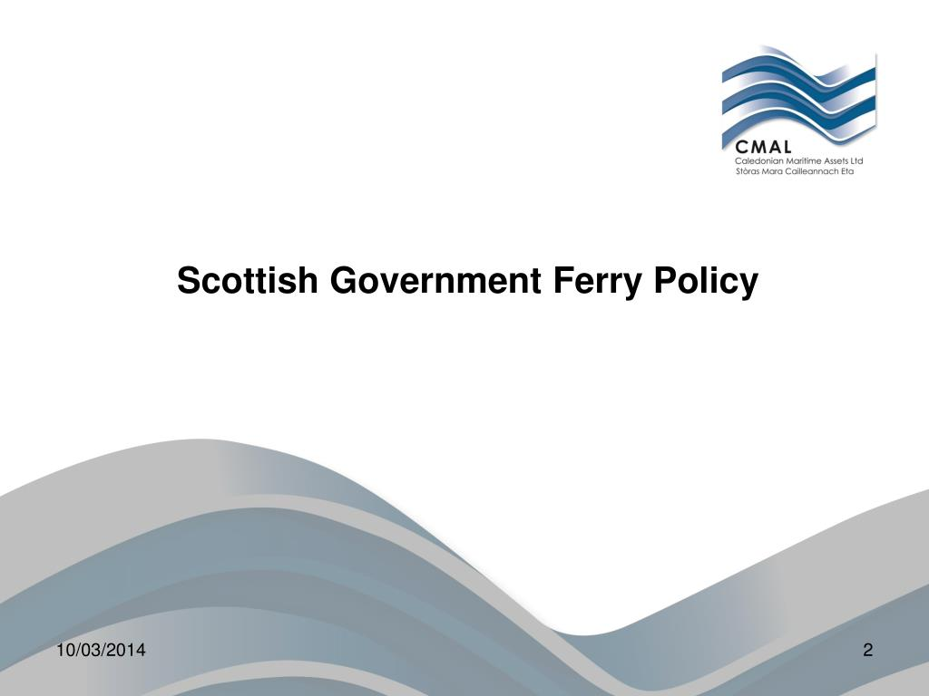 Scottish Government Ferry Policy