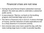 financial crises are not new
