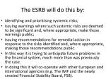 the esrb will do this by