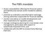 the fsb s mandate