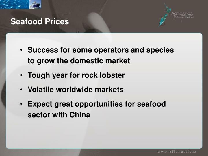 Seafood Prices