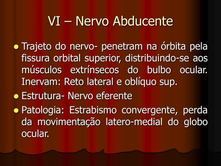 VI – Nervo Abducente