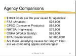 agency comparisons