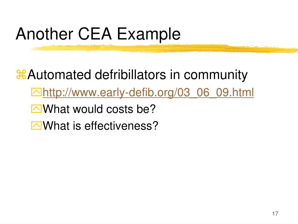 Another CEA Example