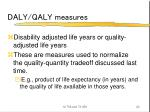 daly qaly measures