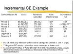 incremental ce example