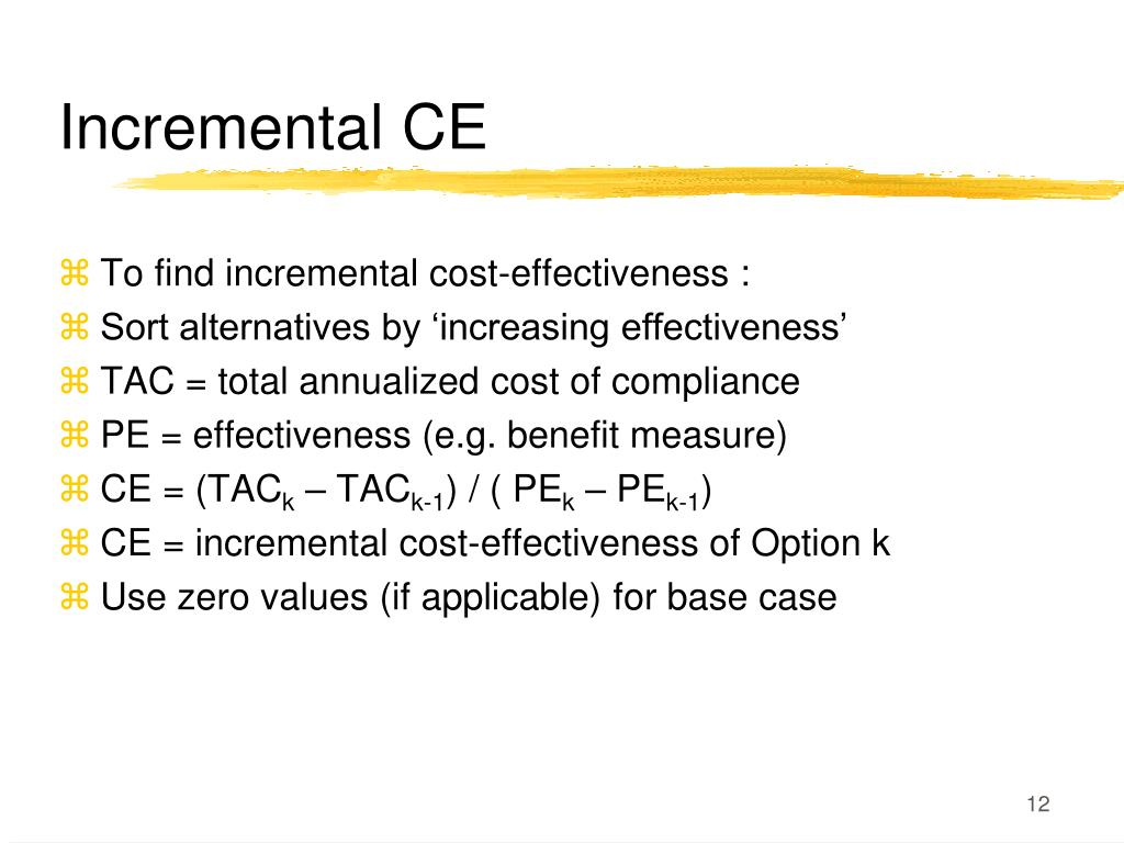 Incremental CE