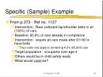 specific sample example