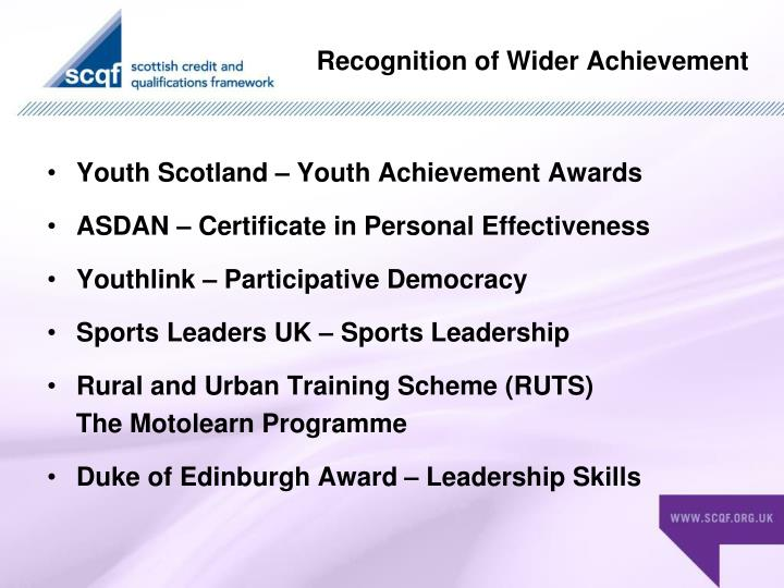 Youth Scotland – Youth Achievement Awards