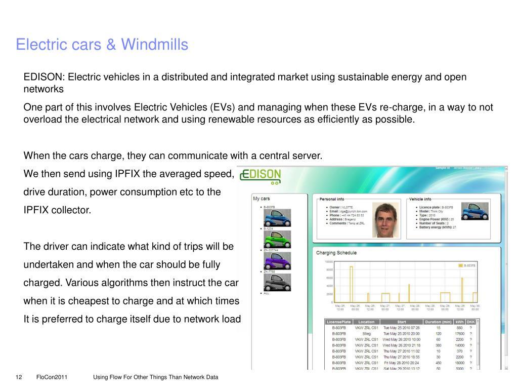 Electric cars & Windmills