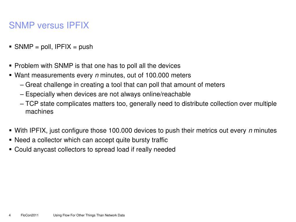 SNMP versus IPFIX