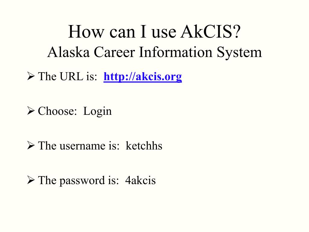 How can I use AkCIS?