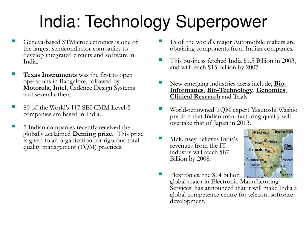 Geneva-based STMicroelectronics is one of the largest semiconductor companies to develop integrated circuits and software in India.