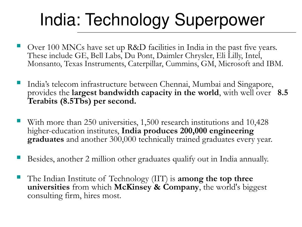 Over 100 MNCs have set up R&D facilities in India in the past five years.