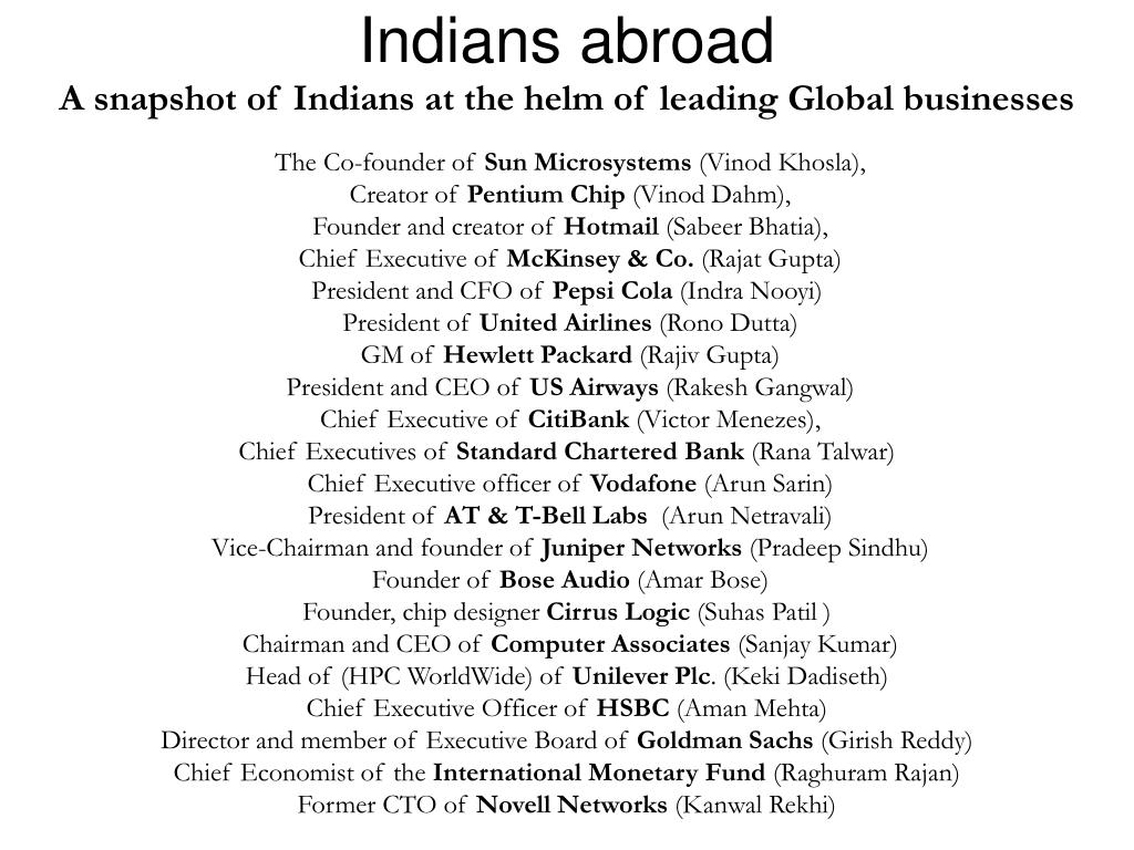 Indians abroad