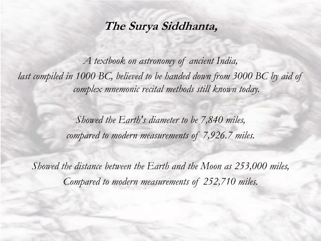 The Surya Siddhanta,