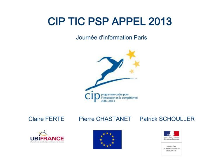 CIP TIC PSP APPEL 2013