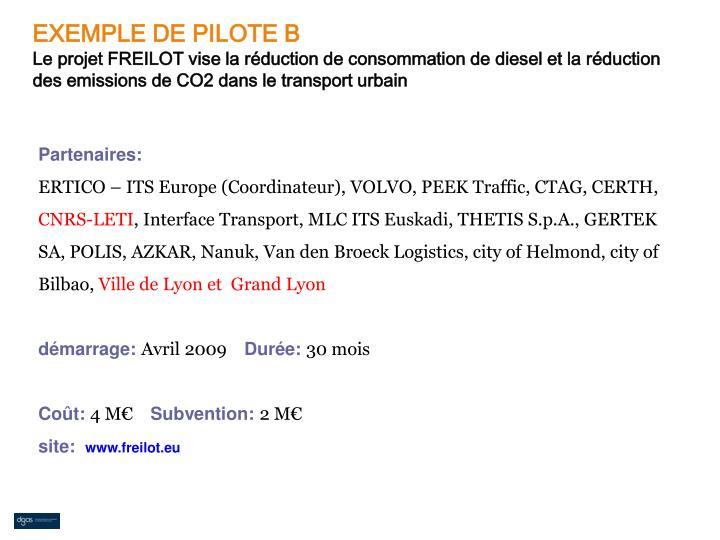 EXEMPLE DE PILOTE B