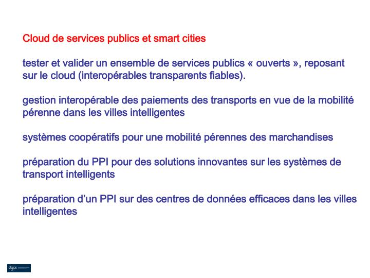 Cloud de services publics et smart cities