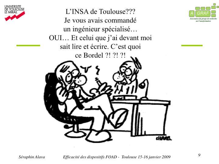 L'INSA de Toulouse???