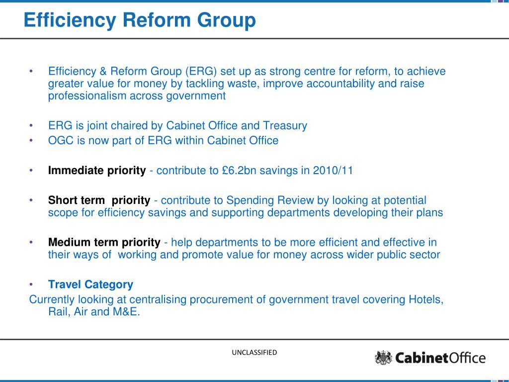 Efficiency Reform Group