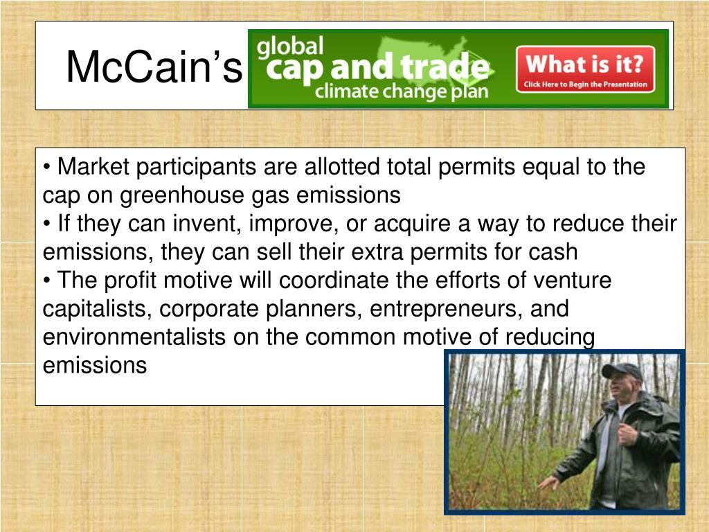 McCain's Cap and Trade Plan