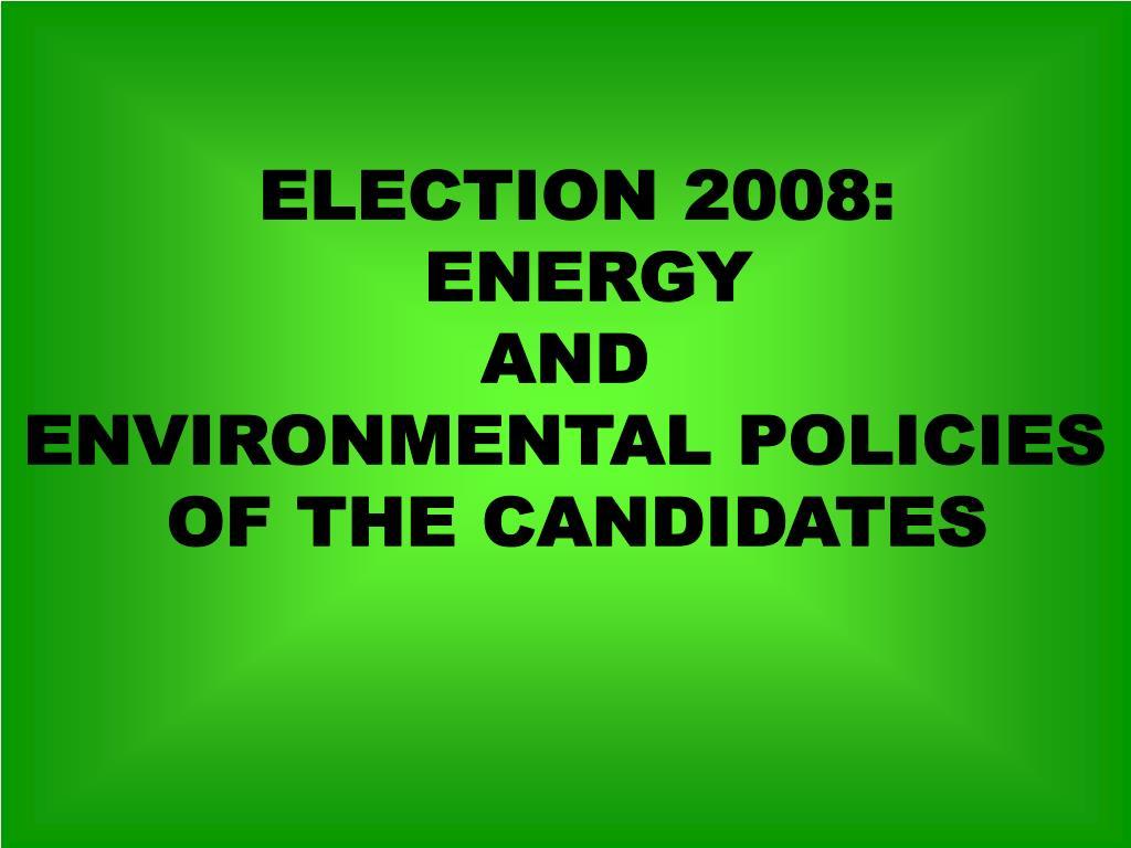 ELECTION 2008: