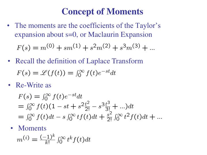 Concept of Moments