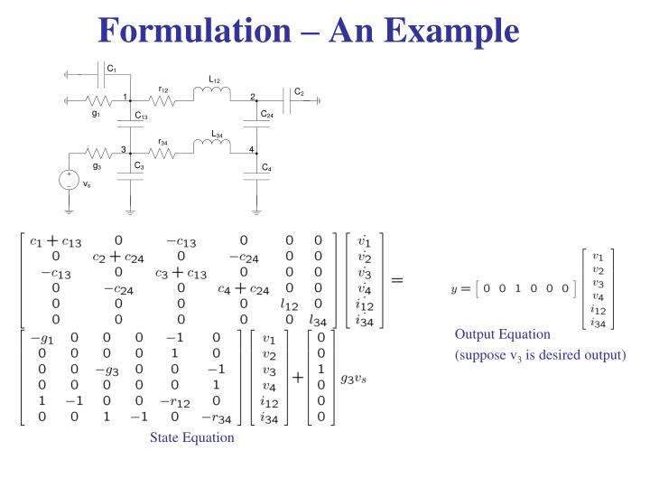 Formulation – An Example