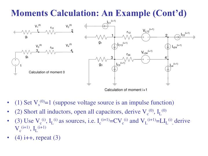 Moments Calculation: An Example (Cont'd)