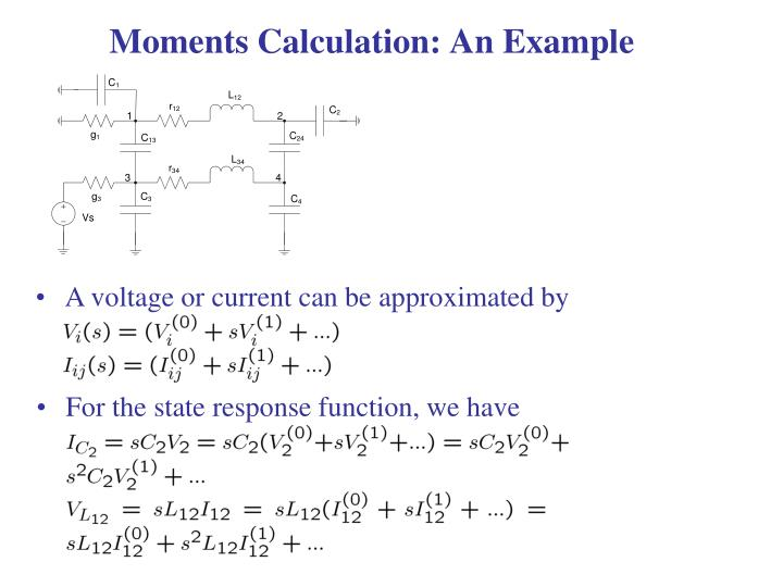 Moments Calculation: An Example
