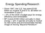 energy spending research