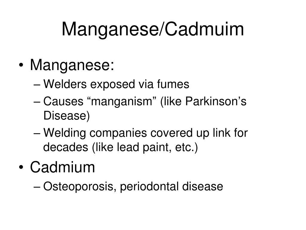 Manganese/Cadmuim