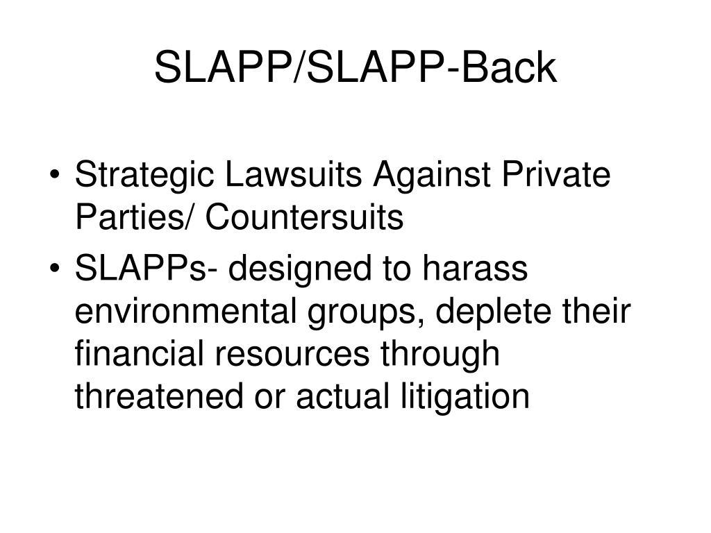 SLAPP/SLAPP-Back