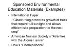 sponsored environmental education materials examples117