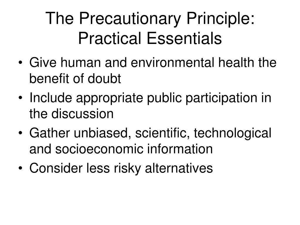 The Precautionary Principle: