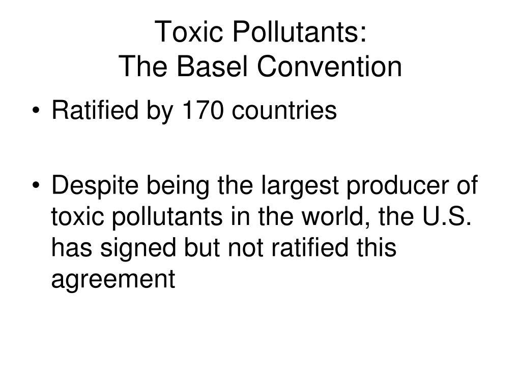 Toxic Pollutants:
