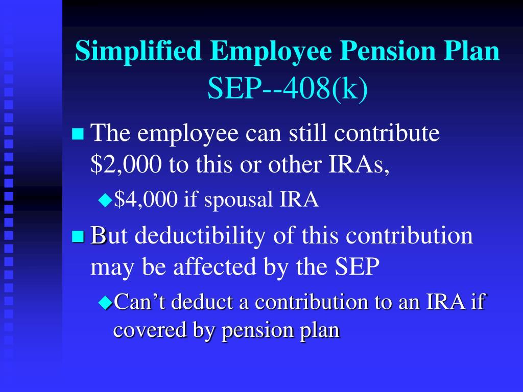 Simplified Employee Pension Plan