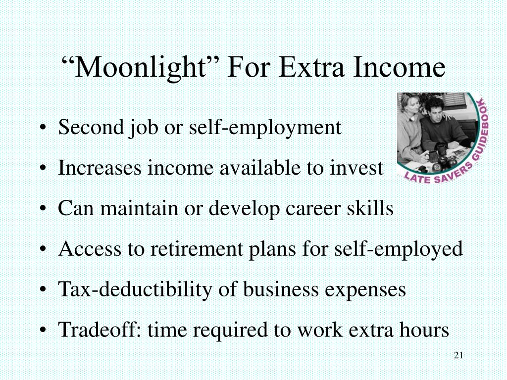 """Moonlight"" For Extra Income"