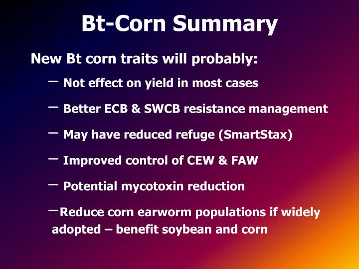 Bt-Corn Summary