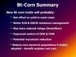 bt corn summary