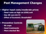 pest management changes
