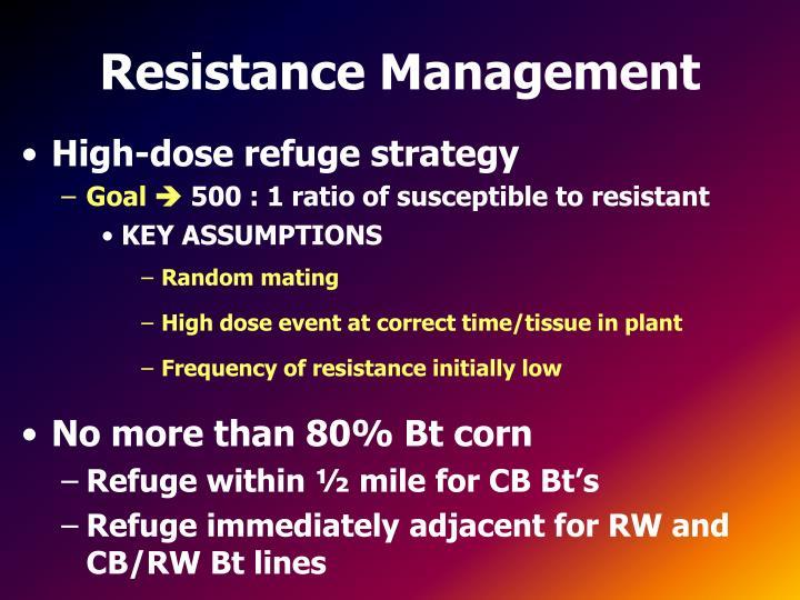 Resistance Management