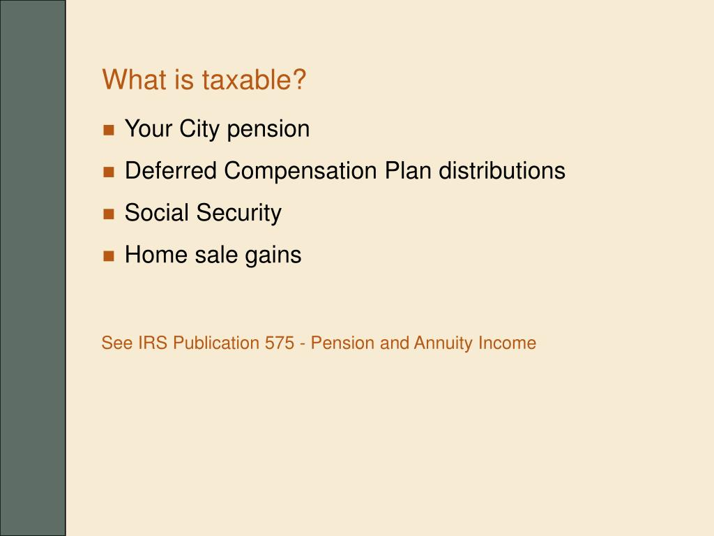 What is taxable?