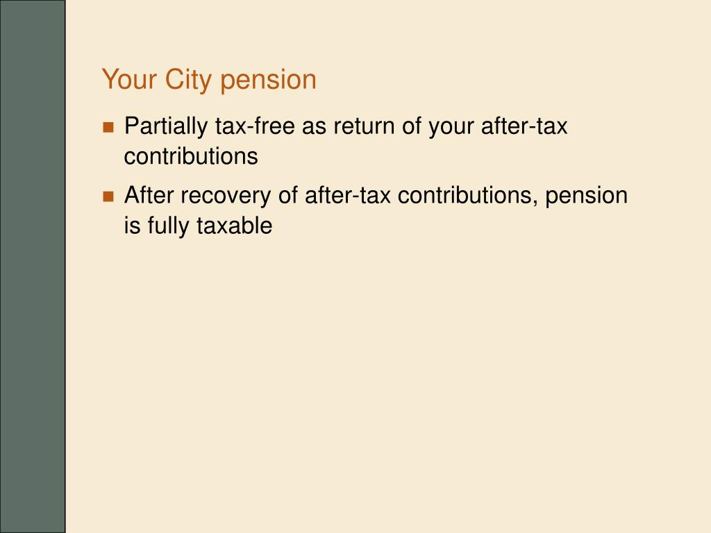 Your City pension