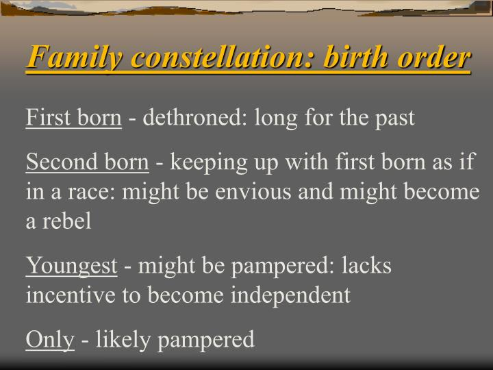 Family constellation: birth order