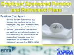 employer sponsored pension and retirement plans