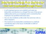 retirement savings plan options for the self employed keogh plans