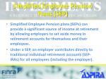 simplified employee pension plans sep