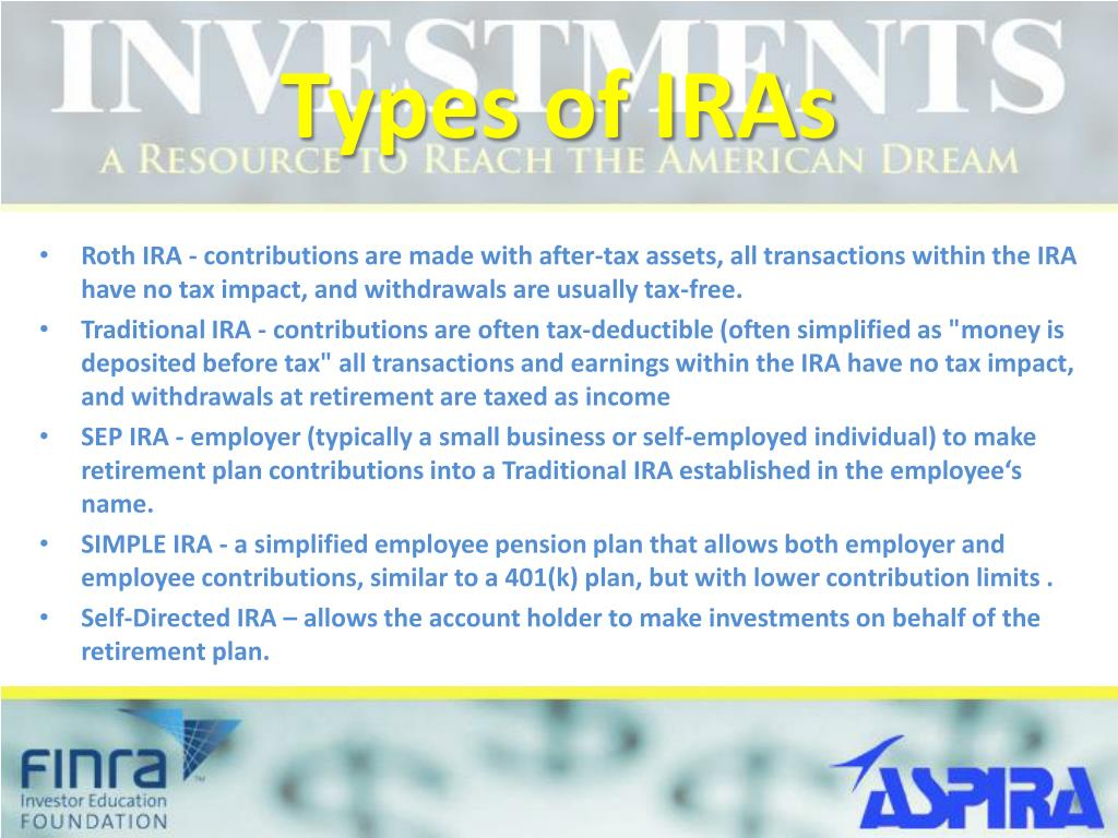 Types of IRAs